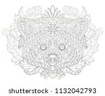 patterned red panda on the... | Shutterstock .eps vector #1132042793