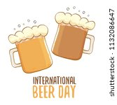 international beer day label... | Shutterstock .eps vector #1132086647
