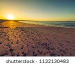 sunset of donegal beach ireland   Shutterstock . vector #1132130483