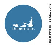 december icon. element of name... | Shutterstock .eps vector #1132133993