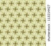 seamless green floral background | Shutterstock . vector #113214427