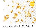 random falling golden glitter... | Shutterstock .eps vector #1132158617