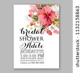floral wedding invitation or... | Shutterstock .eps vector #1132158863