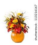 Pumpkin Flower Arrangement Ove...
