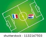 france vs croatia flags soccer... | Shutterstock .eps vector #1132167503