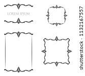 vintage floral frames borders... | Shutterstock .eps vector #1132167557