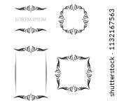 vintage floral frames borders... | Shutterstock .eps vector #1132167563
