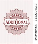 red money style emblem or... | Shutterstock .eps vector #1132204613