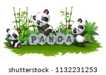 panda are playing together in...   Shutterstock .eps vector #1132231253