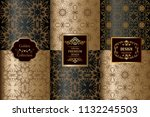collection of luxury seamless...   Shutterstock .eps vector #1132245503