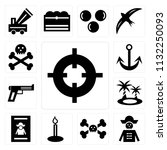 set of 13 simple editable icons ...   Shutterstock .eps vector #1132250093