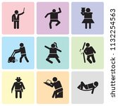 set of 9 simple editable icons... | Shutterstock .eps vector #1132254563