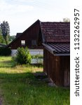 stable buildings bavaria style... | Shutterstock . vector #1132262957