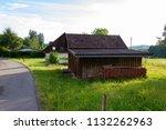 stable buildings bavaria style... | Shutterstock . vector #1132262963