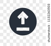 upload vector icon isolated on... | Shutterstock .eps vector #1132263503