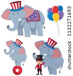 a set of circus elephants... | Shutterstock .eps vector #1132271693