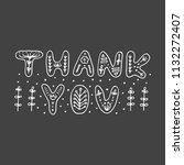thank you typography on...   Shutterstock . vector #1132272407