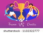 a duel of football teams. a... | Shutterstock .eps vector #1132322777