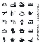set of vector isolated black... | Shutterstock .eps vector #1132348463
