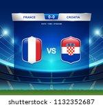 france vs croatia scoreboard...   Shutterstock .eps vector #1132352687