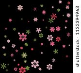 cute floral pattern with simple ...   Shutterstock .eps vector #1132394963