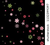 cute floral pattern with simple ...   Shutterstock .eps vector #1132399397