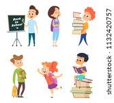 school characters. male and... | Shutterstock .eps vector #1132420757