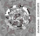 shipped written on a grey... | Shutterstock .eps vector #1132431893