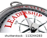 Leadership Red Word Indicated...