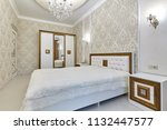 bedroom with a beautiful... | Shutterstock . vector #1132447577