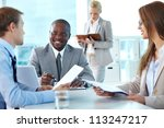 portrait of confident boss... | Shutterstock . vector #113247217
