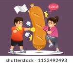 people overcoming the desire to ... | Shutterstock .eps vector #1132492493