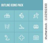 lifestyle icon set and training ...
