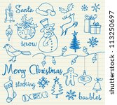 Christmas Icons Doodles...