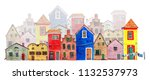 plans of an old town. colorful... | Shutterstock . vector #1132537973