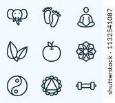meditation icons line style set ... | Shutterstock .eps vector #1132541087