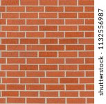red brick wall texture.... | Shutterstock . vector #1132556987
