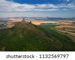 aerial view on mountain peak... | Shutterstock . vector #1132569797