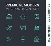 modern  simple vector icon set... | Shutterstock .eps vector #1132585433