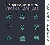 modern  simple vector icon set... | Shutterstock .eps vector #1132585457
