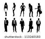 business silhouette | Shutterstock .eps vector #113260183