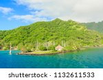 papeete  french polynesia  ... | Shutterstock . vector #1132611533