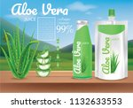 aloe vera package ads... | Shutterstock .eps vector #1132633553