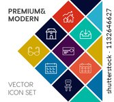 modern  simple vector icon set... | Shutterstock .eps vector #1132646627