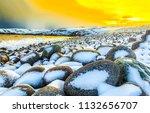 sunset boulders beach snow... | Shutterstock . vector #1132656707