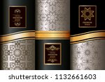 collection of luxury seamless...   Shutterstock .eps vector #1132661603