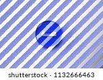 blue minus circle icon on the... | Shutterstock . vector #1132666463