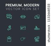 modern  simple vector icon set... | Shutterstock .eps vector #1132668533