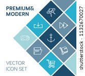 modern  simple vector icon set... | Shutterstock .eps vector #1132670027