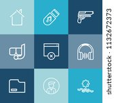 modern  simple vector icon set... | Shutterstock .eps vector #1132672373